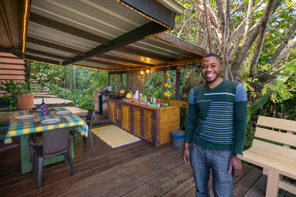 Your host in the outdoor California kitchen